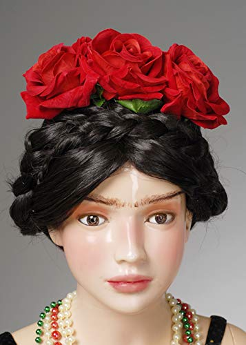Magic Box Diadema de Flores con Rosas Rojas Frida Kahlo Style para ...
