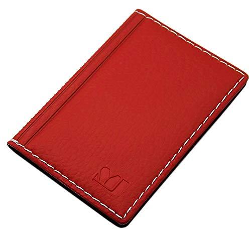 Elegante Tarjetero para Tarjeta de crédito y Tarjeta de Visita diseños (Diseño 2 / Rojo)