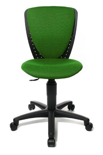 Topstar 70570BB80 High S\'cool, Kinder- und Jugenddrehstuhl, Schreibtischstuhl für Kinder, Bezugsstoff dunkelgrün