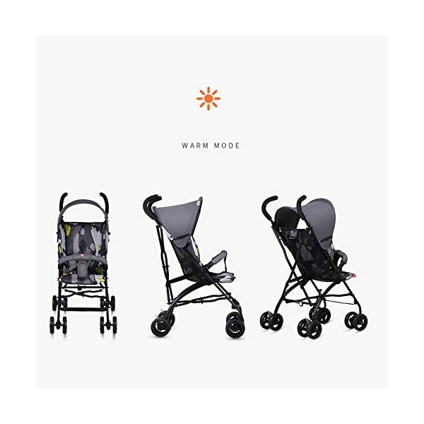 Makeups One-Handed Folding Stroller Height-Adjustable Stroller 0+ Group Is Suitable for Crib Up To 15 Kg with Umbrella Colour: Black Makeups The 3-in-1 car is suitable for the birth of a baby. 3-piece car-a car seat from a month to 15 kg, a large crib and a stroller that can be used for a long time. Easy to fold: A case that can be easily and quickly folded with only one hand. The size is reduced, which is ideal for travel and trunk space. With a compact chassis, easy to fold, can carry a crib, can be used from birth, and includes group 0. This is the ideal stroller for your baby. 3