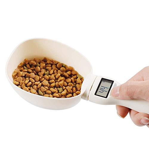 CHDHALTD Precise Pet Food Scoop,Pet Food Measuring Scoop with LED Display,Dog Cat Food Detachable Digital Spoon Kitchen Baking Scale Handled Coffee Bake Measuring Cups