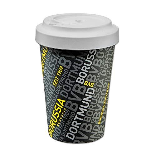 Borussia Dortmund Thermobecher Bambus, Coffee to go Becher, Kaffeebecher, Tasse, Mug BVB 09 (L)