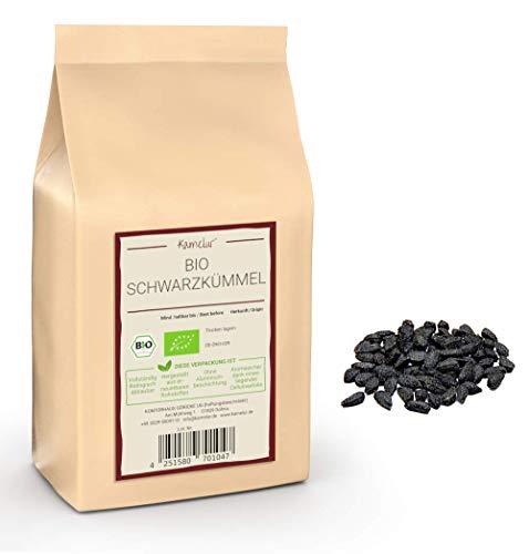 500g di cumino nero intero BIO - semi di cumino nero aromatico senza additivi - vero cumino nero BIO in confezione biodegradabile