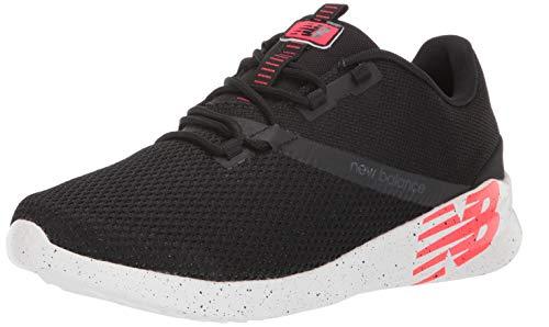 New Balance Men's District Run V1 Cush + Sneaker, black, 9.5 X-Wide US