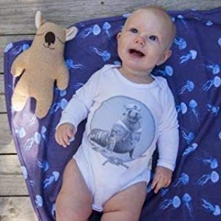 Dusty Road Apparel Organic Baby Onesies | Salty Long Sleeve Onesie | Australian Sea Lion | Nautical Theme