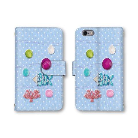【ノーブランド品】 AQUOS SERIE mini SHV33 スマホケース 手帳型 海 魚 サンゴ ブルー 青 かわいい おしゃれ 携帯カバー SHV33 ケース 携帯ケース アクオス セリエ ミニ