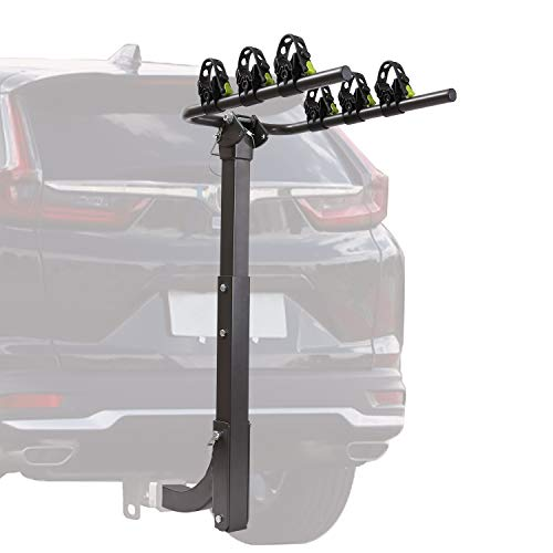 3 Receiver Bike Rack for car, Approved Foldable Towing Bicycle Racks Hitch Mount
