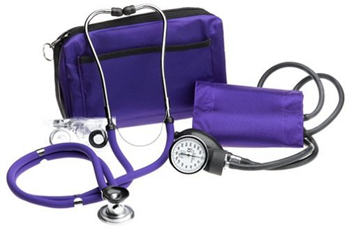 Prestige Sphygmomanometer and Stethoscope Kit with Matching Purple Carrying Case