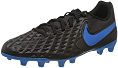 Nike Legend 8 Club FG/MG, Zapatillas de Fútbol Hombre, Negro (Black/Blue Hero 004), 43 EU