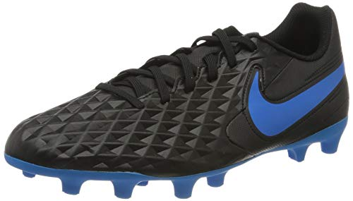 Nike Legend 8 Club FG/MG, Football Shoe Uomo, Black Blue Hero, 45 EU