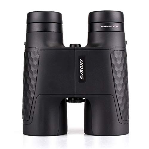 Svbony SV30 10x42 Prismático de Enfoque Fijo Diseño Compacto Prisma BK-7 Equipo con Revestimiento FMC Ideal para observación de Vida Salvaje y paisajes Caza observación de Aves(Negro)