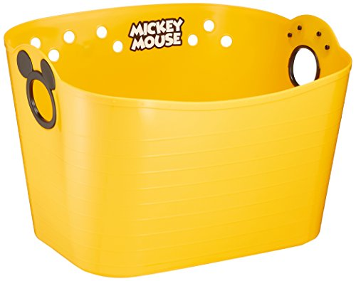 錦化成 収納ボックス ミッキーマウス やわらかバケツ SQ43 イエロー