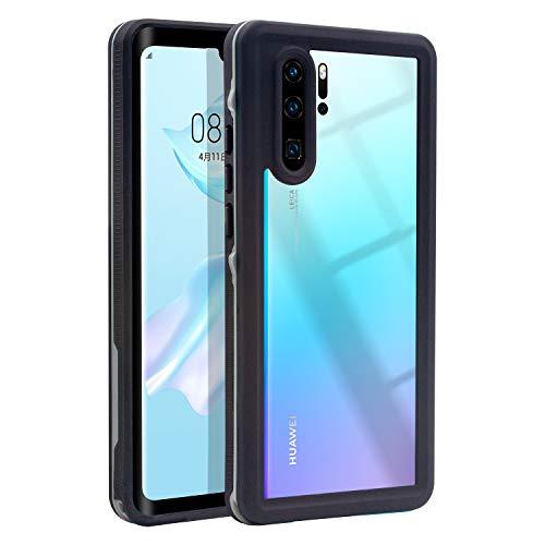 Hertekdo Huawei P30 Pro Hülle, IP68 Wasserdicht Stoßfest Staubdicht Schneefest Superdünn Leicht Handyhülle Outdoor Unterwassergehäuse Full Body Schutzhülle für Huawei P30 Pro