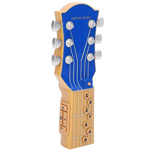 Guitarra de aire Sensor infrarrojo Principio de sonido único Simulación Guitarra Azul Rojo Negro Portátil Preset modo de rendimiento de música para los amantes de la música (azul)