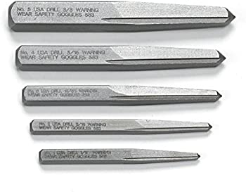 5-Piece Gearwrench Straight Fluted Screw Extractor Set
