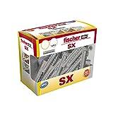 Fischer - tacos fischer SX 4x20, caja bricolaje 180 unidades, gris