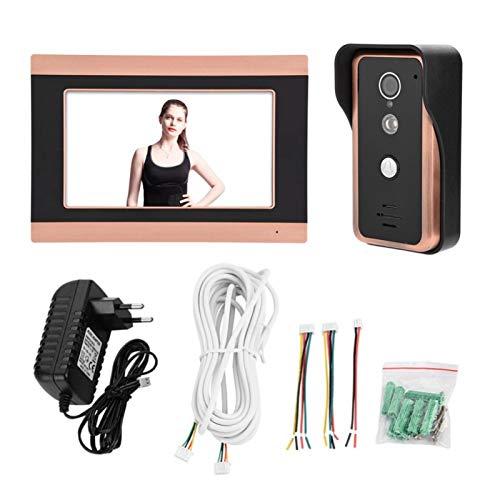 Kit de Timbre Inteligente para el hogar con intercomunicador de Anillo de teléfono de Puerta con cámara de Video WiFi con Pantalla táctil de 7 Pulgadas(Normativas Europeas)