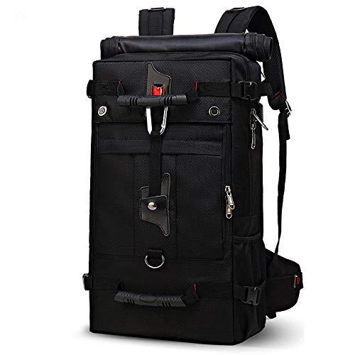 Hanggg multifunctionele reisrugzak, drie verbeterde versie van de waterdichte outdoor-rugzak computer student rugzak 24 Zoll zwart