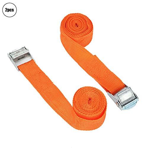Cuerda de amarre de trinquete Correa de amarre resistente al desgaste Correa de trinquete para el hogar(1', 2.5m 2pcs)