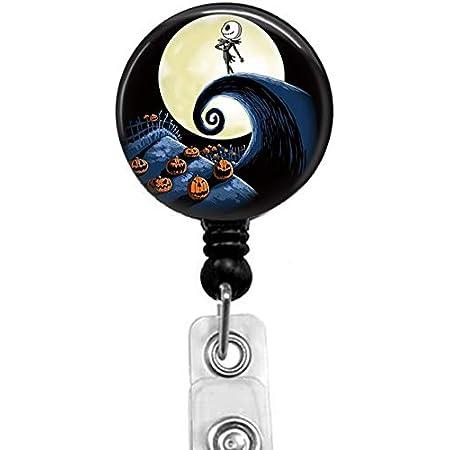 Disney Halloween Jack Skellington and Sally Nightmare Before Xmas Customized Phone Grip or Badge Reel
