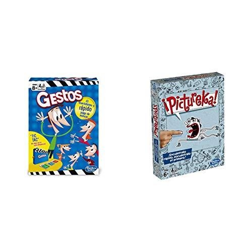 Hasbro Gaming Juego de Mesa Gestos (B0638105) + Gaming Clasico Pictureka (Versión Española) (B0731105)