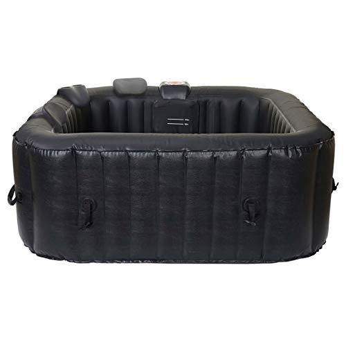 Mendler Whirlpool HWC-E32, 4 Personen In-/Outdoor heizbar aufblasbar 150x150cm FI-Schalter + Zubehör
