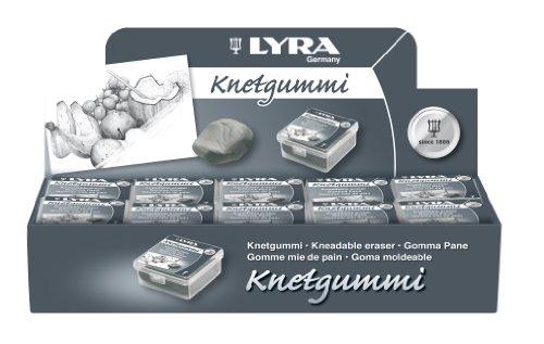 Lyra Knetgummi, hochwertiger Knetradierer in Künstlerqualität, 20 Stück Packung SPARPACK