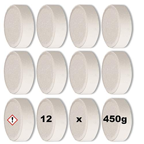 Luftentfeuchter Granulat Tabs 12 x 450g Nachfüllpackung für Raumentfeuchter Box Nachfülltabs Tabletten