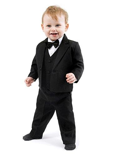 Mertinat Exclusive Schicker Taufanzug/Baby-Anzug 5-teilig, schwarz Uni, ca. 9-12 Monate (80)