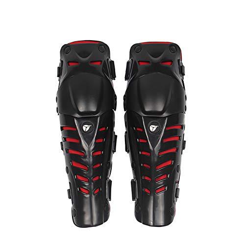 VOMI Protección de Rodilla Espinillera Rodilleras Moto Motocross Adultos Protector Rodilla Hombre, Ajustable/Respirable/Flexible para Enduro Motocicleta Ciclismo Bicicleta Monopatín,Rojo