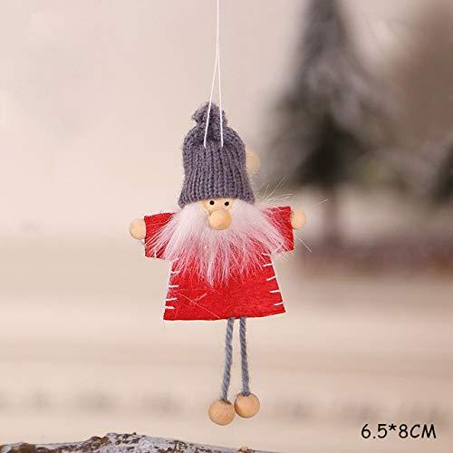 ZZSDG Nouvel an Dernier Noël Ange Ski Poupées Arbre De Noël Ornement Natal Poupées Enfants Cadeau Décoration De Noël pour La Maison ,G3