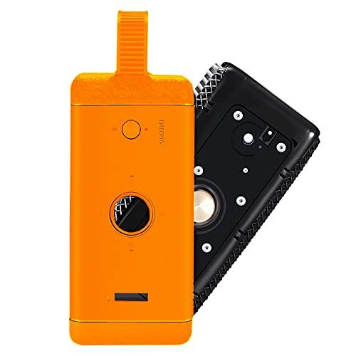 2021 El más nuevo viaje al aire libre lleva suave silicona caso cubierta caja bolsa para Marshall EMBERTON Bluetooth altavoz inalámbrico (naranja)