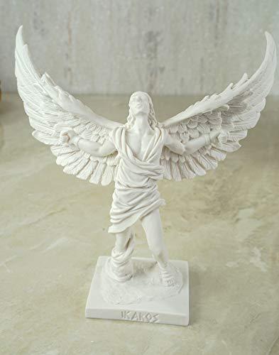 Kremers Schatzkiste Alabaster Figur Ikarus Skulptur 16 cm weiß Kreta