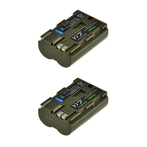 2x Chili Power BP-511, BP-511A (1700mAh) batería para Canon EOS 5d, 10d, 20d, 30d,...