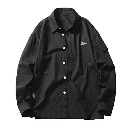 NOBRAND Camisa para hombre Primavera y Otoño pequeño abrigo fresco herramientas para estudiantes de ocio