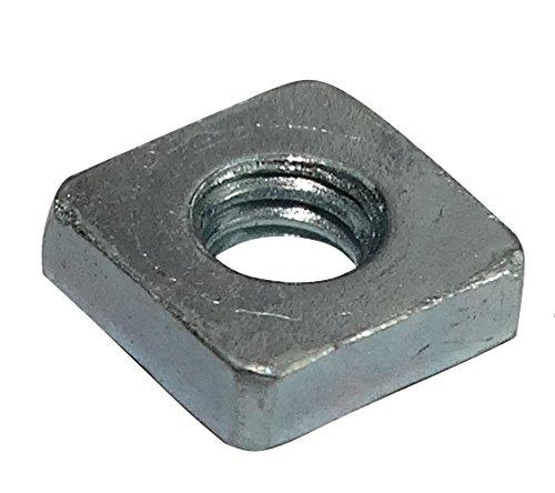Aerzetix: 100x quadratische Mutter M2.5 5mm H1.6mm DIN562 verzinkter Stahl C19213