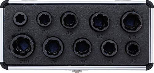 Kraftmann 20210   Spiral-Profil-Steckschlüssel-Satz / Schraubenausdreher   10 mm (3/8