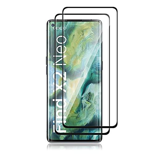 QULLOO Panzerglas Schutzfolie kompatibel mit OPPO Find X2 Neo,[2 Stück] HD Klar Bildschirmschutz Folie Blasenfrei Anti-Scratch Ultra Dünn Bildschirmschutzfolie - Transparent