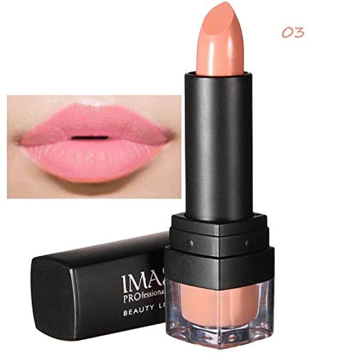 ウェーハ着る加速するメモImagic 12色口紅魅力的な防水染色しないでくださいカップマキアジェム長続きするマット自然メイクアップ美容唇化粧品ツール