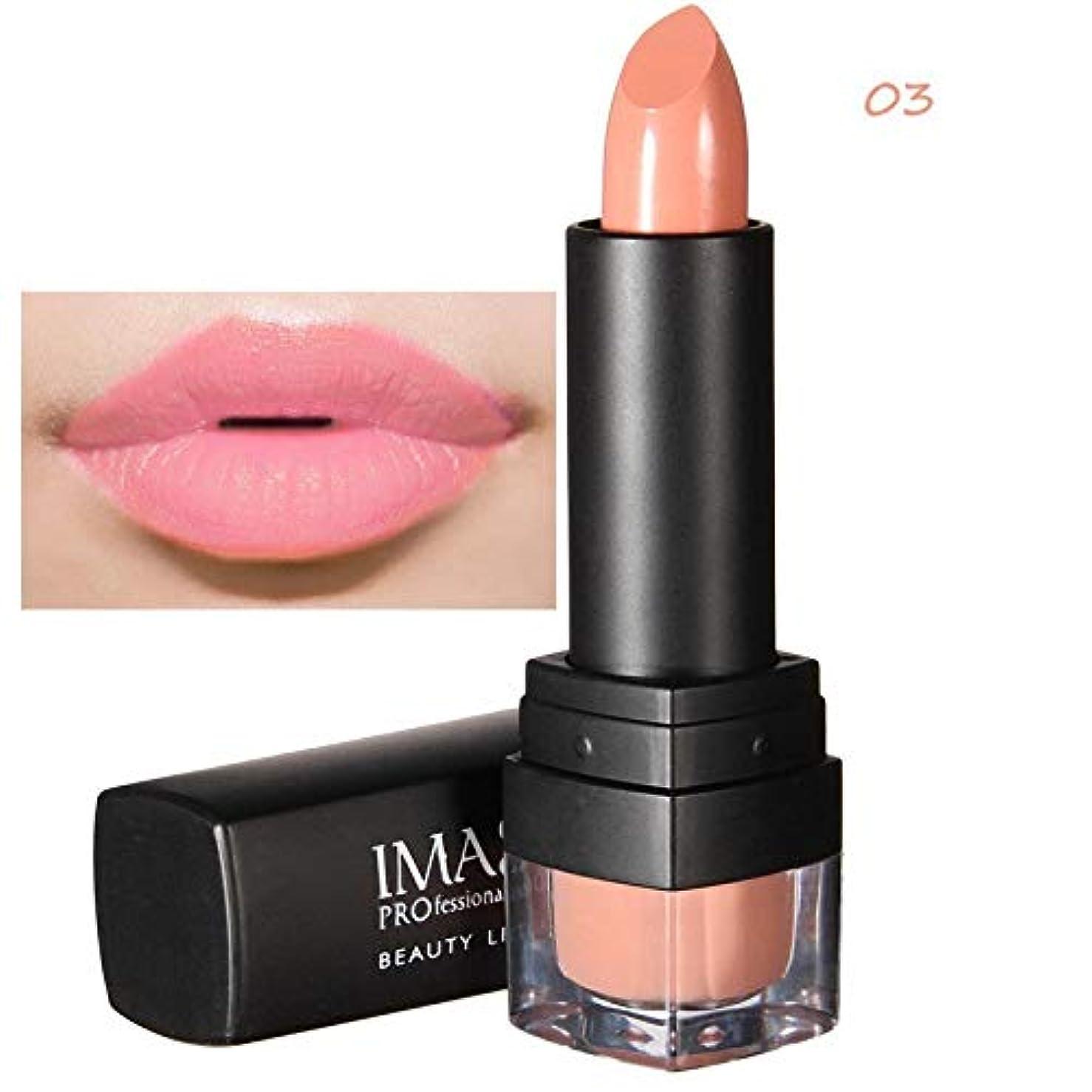 サポート写真欺くメモImagic 12色口紅魅力的な防水染色しないでくださいカップマキアジェム長続きするマット自然メイクアップ美容唇化粧品ツール