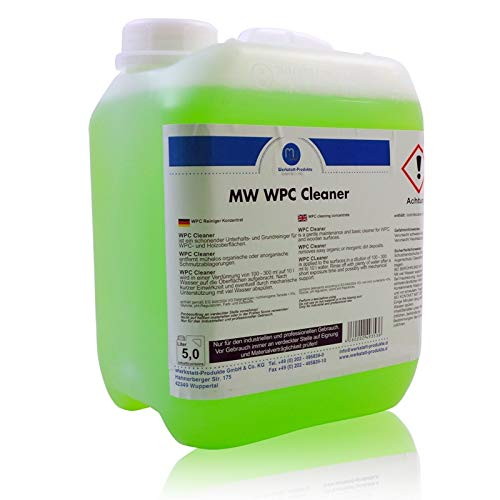 5 Liter MW WPC Grundreiniger Terassendielen Reiniger für Holz-Kunststoff Dielen