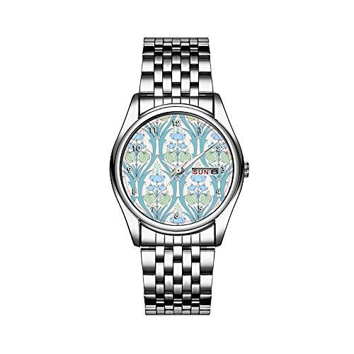 Heren luxueus horloge 30 m waterdicht datum herenhorloge sporthorloges heren polshorloge kwarts casual geschenk mooie pastel blauw groen vintage behang polshorloges