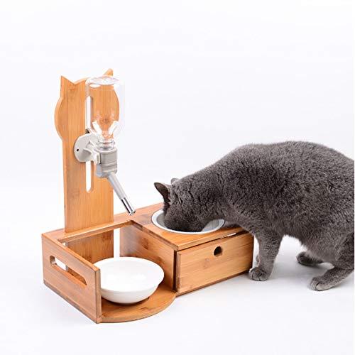 HUIJUNWENTI Recipiente para Mascotas, Juego de Mesa de Comedor de ...