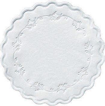 Duni Untersetzer 8lagig Tissue Uni weiß, ø 9 cm, 500 Stück