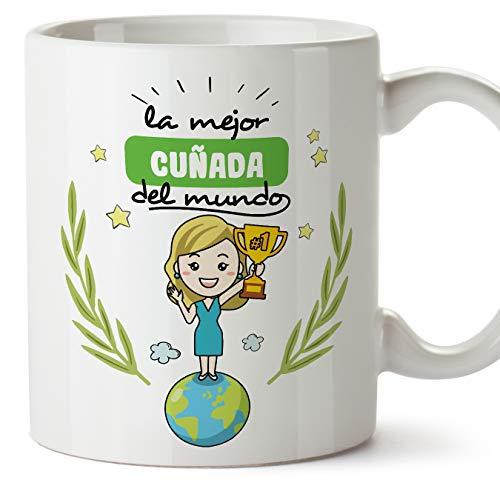 MUGFFINS Taza Cuñada -Familiares Mundo -Regalos Originales y Divertidos -Tazas de Café y Té