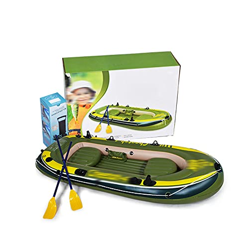 Fnho Opblaasbare rubberboot vlotboot,Opblaasbare roeiboot,Barco Plegable de PVC, Kayak Inflable (280 x 144 cm)