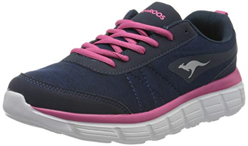 KangaROOS Damen KR-REF Sneaker, Dark Navy/Daisy Pink 4204, 38 EU