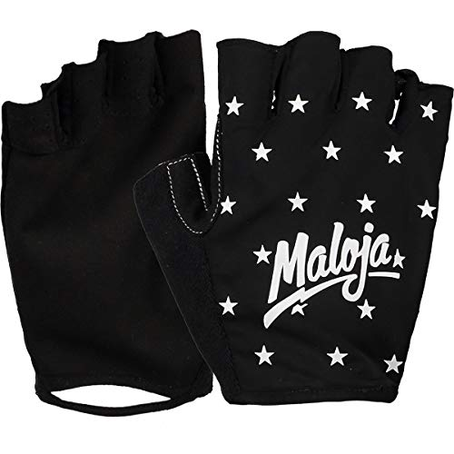 Maloja Palzm. Fahrrad Handschuhe Schwarz, Fingerhandschuh, Größe L - Farbe Moonless