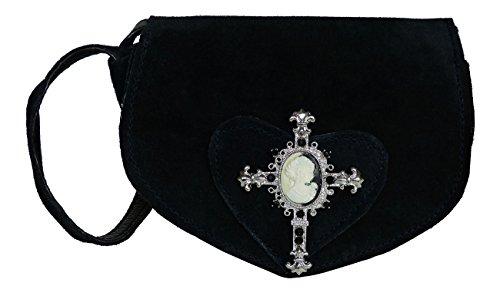 Süsse Umhängetasche- Trachtentasche fürs Dirndl - Echt Leder - Wildleder Tasche...