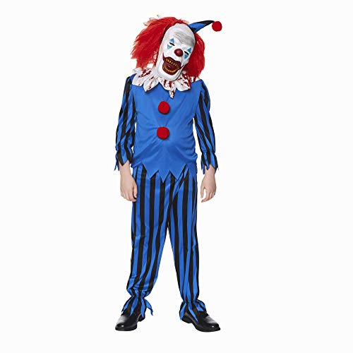 Yellow /& Red COST-M NEW UK IMPORT with Jumpsuit Kreepy Killer Clown Costume